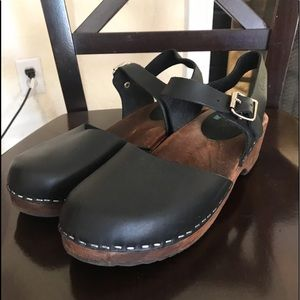Lotta from Stockholm Low Wood Black Clog 41 9.5